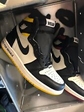 NEW JORDAN RETRO 1 SIZE 6 NOT FOR RESALE 1 861428 107 1s YELLOW No photos