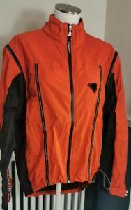 Endura Softshell Waterproof Jacket Orange & Black Medium Convertible Zip Sleeves