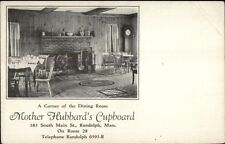 Randolph MA Mother Hubbard's Cupboard Dining Room Postcard