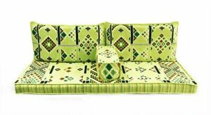 Turkish Ottoman Corner Set COVER ONLY Sofa Cushion pillows Lounge Couch 4pcs Grn