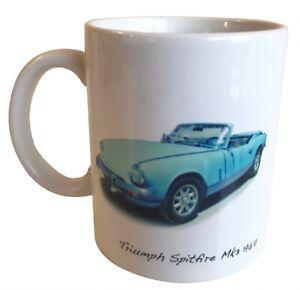 Triumph Spitfire Mk3 1967 -11oz Ceramic Mug - Ideal Gift for a car enthusiast.