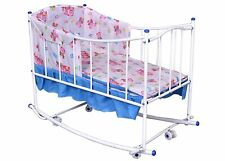 Smart Baby Cradle, Crib, Cot, Rocker,Multiple Functions with Zipper Pink Colour