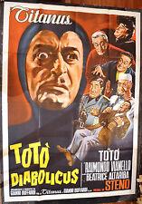 MANIFESTO ORIGINALE TOTO' DIABOLICUS 62 TOTO' STENO