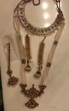 Temple Jewellery Bharatanatyam complete set including hair accessories