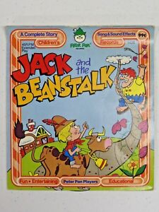 Vintage Peter Pan Records JACK AND THE BEANSTALK 45RPM Vinyl Record 1426