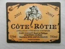 étiquette de vin COTE ROTIE