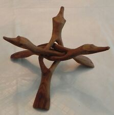 Wooden Hand Carved Decorative Tabletop Display Stand