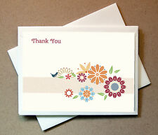 Flowers Thank You Card  (25 Foldover Cards and Envelopes)