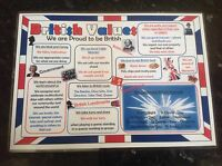 Promote British values poster classroom display school nursery childcare OFSTED