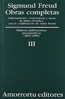 O.C FREUD 3 PRIMERAS PUBLICACIONES PSICOANALITICAS. ENVÍO URGENTE (ESPAÑA)