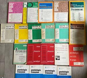 Lot 46 livres et revues de Psychologie et Sociologie