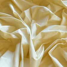 "Cream Silk Taffeta 100% Silk Fabric, 54"" Wide, By The Yard (TS-7016)"