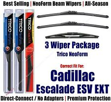 3pk Wipers Front & Rear NeoForm fit 2007 Cadillac Escalade ESV EXT  162213x2/12E