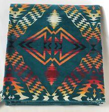 "Pendleton Teal Aqua Green Bath Beach Spa Towel 40""x 70"" Aztec Southwest NEW"