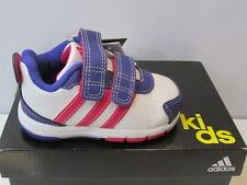UK Taglia presepi 3 Adidas Snice 3 CF presepi Velcro Scarpe Da Ginnastica-Bianco/Rosa/Viola