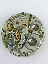 Working Waltham 15 Jewels Pocket Watch Movement from Hunter Case (BM25)