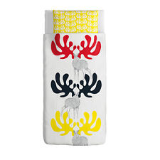 IKEA Angsspira Twin Duvet Cover Pillowcase(Retired)Yellow Red Black Moose Antler