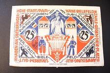 TRÈS RARE NOTGELD SUR TISSU- ETAT NEUF - 25 MARK 1921 - 8 X12 CM !(c.09/16)