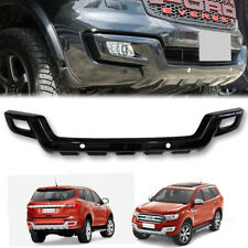 GLOSS BLACK FRONT BUMPER GUARD PROTECTOR FIT FOR FORD EVEREST 2015 16 17