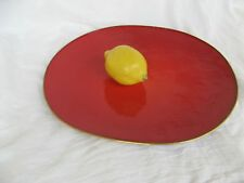 Grand bol EMAILLE A.G. Bunge mid century enamel Dish signed signé