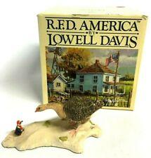 Vtg Schmid Lowell Davis Arrival of Stanley Goose Christmas Mouse ~ Member Piece