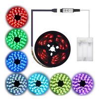 LED Strip Lights RGB Battery Box Controller Battery Powered Multi-Color 30LEDs/m