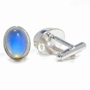 Milky Opal 925 Sterling Silver Cufflink Men's Jewelry T258 M1542 S2651