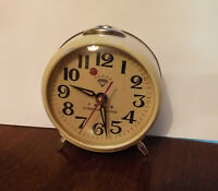 Vintage Mechanical Alarm Clock Diamond China Shanghai Rare 1970s