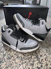 "Pre Owned Air Jordan Retro 3 ""Wolf Grey"" Size 11.5"