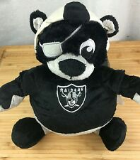 NEW NFL Oakland Raiders Reverse-A-Pal Football Plush Toy Double-sided zipper NWT
