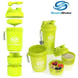 Smart Shake Protein Bottle Mixer Shaker Cup SmartShake Original Neon Yellow