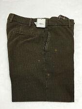 ALORI1961 pantalones de hombre cuadros color marrón con aerosol 100 % algodón