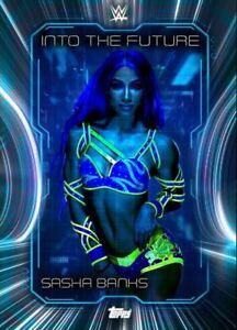 "WWE Topps SLAM ""Digital"" Sasha Banks Into The Future 21 Blue Super Rare"