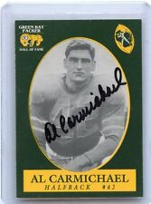 1992 GREEN BAY PACKERS HALL OF FAME #42 AL CARMICHAEL AUTOGRAPH AUTO, 121014
