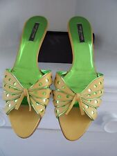Rare Leather Butterfly Sandals Slides  SERGIO ROSSI Made in Italy EU 41 US 9.5