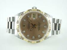Authentic Rolex 68279 President White 18k Gold Diamond Midsize Watch
