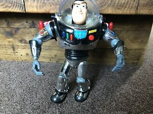 Tog Story Very Rare Silver Platinum Buzz Lightyear Talking Working Man Cave Bar✨