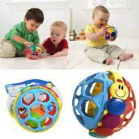 Baby Newborn Infant Baby Toddler Kid Child Bendy Rattle Ball Crib Play Sport Toy
