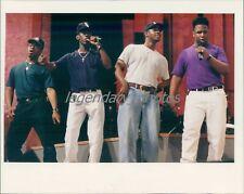 1992 Boyz II Men Rehearsing at the Wiltern Theatre Original News Service Photo