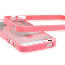 Apple iPhone 5S 5 Handy Hülle Tasche Pink - Bumper Schutz Set 5 in 1