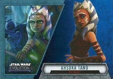 2016 Topps Star Wars Evolution Blue Lightsaber Parallel #11 Ahsoka Tano