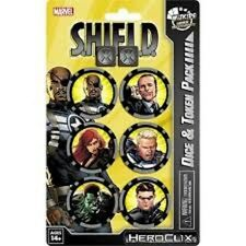 Heroclix nick fury agent shield dés & jeton pack brand new & sealed bon marché!!!