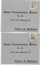 Spanien 1951 ? - 3 x Schiffspost Ibiza - Mallorca