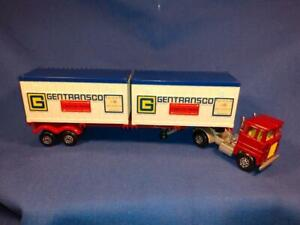 1974 Scammell Tractor Articulated Container Truck, Blue & White Containers F5