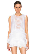 ISABEL MARANT Vienna Pleated Organza Top 100% Silk $725 SOLD OUT 34 XS