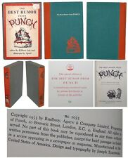 Best Humor From Punch 1953 1st Ed PRIVATE PRINTING Slip Case Hardcover Numbered