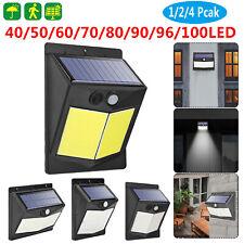 40-100LED Solar Power PIR Motion Sensor Wall Security Light Outdoor Garden Lamp