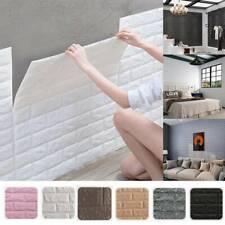 3D Tile Brick Stone Wall Sticker Foam Panel Self Adhesive Waterproof Home Decor