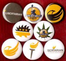 LIBERTARIAN PARTY 8 NEW button pin badge porcupine marijauna
