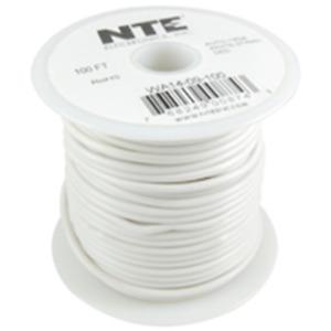 NTE Electronics  WA18-09-100 HOOK UP WIRE AUTO 18 GAUGE WHITE STRANDED 100'